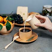 Посуда handmade. Livemaster - original item Glass for cream and milk from natural wood Siberian Cedar #C27. Handmade.