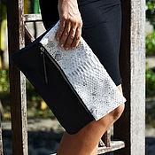 Сумки и аксессуары handmade. Livemaster - original item Clutch bag of genuine Python leather. Handmade.