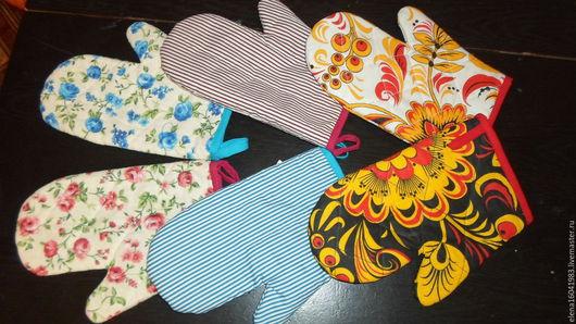 Кухня ручной работы. Ярмарка Мастеров - ручная работа. Купить рукавичка. Handmade. Прихватка, кухня, текстиль для кухни, бязь