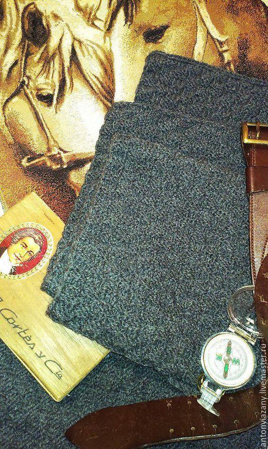 Шарфы и шарфики ручной работы. Ярмарка Мастеров - ручная работа. Купить шарф мужской. Handmade. Темно-серый, шарф вязаный