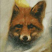 """Материалы для творчества ручной работы. Ярмарка Мастеров - ручная работа Схема """"Морда лисы в лесу"""". Handmade."""