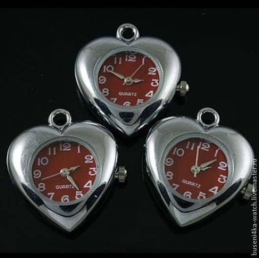 Для украшений ручной работы. Ярмарка Мастеров - ручная работа. Купить Подвеска-часы Красное сердце (1шт). Handmade. Часы