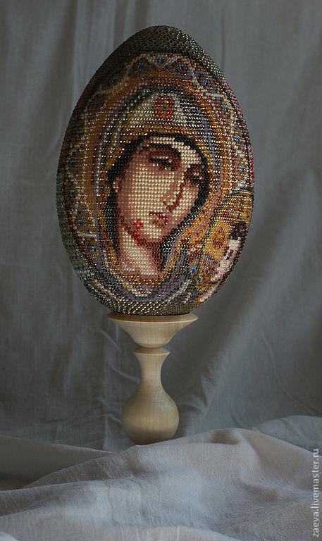 Яйцо из бисера Икона Божией