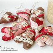 Для дома и интерьера ручной работы. Ярмарка Мастеров - ручная работа Подвески сердечки - набор. Handmade.