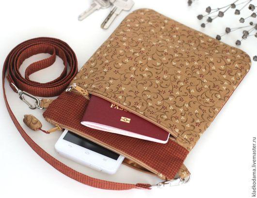 Сумка текстиль Осенняя лиана, холдер для документов,сумка органайзер