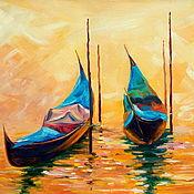 Картины и панно handmade. Livemaster - original item Oil painting on canvas. Two in Venice.. Handmade.