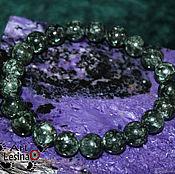Bead bracelet handmade. Livemaster - original item Bracelet serafinite (10 mm) dimensionless. Handmade.