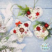 Сувениры и подарки handmade. Livemaster - original item Christmas decoration from felt. NEW YEAR. star.. Handmade.