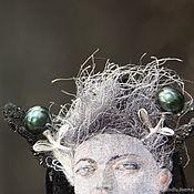 Украшения handmade. Livemaster - original item Pendant brooch Laura moth. Velvet silk pearl silver emeralds. Handmade.