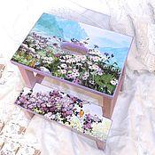 Для дома и интерьера handmade. Livemaster - original item Stepladder - stool Spring in the mountains. Handmade.