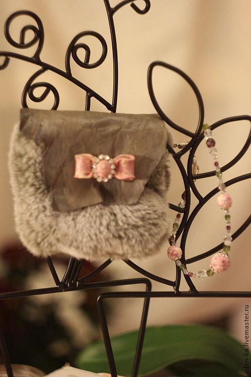 Женские сумки ручной работы. Ярмарка Мастеров - ручная работа. Купить Сумочка очень  маленькая с розовым бантиком ( номер два ). Handmade.