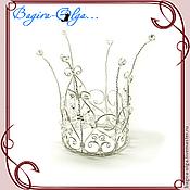 """Свадебный салон ручной работы. Ярмарка Мастеров - ручная работа корона """"Маленькая принцесса"""". Handmade."""
