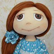 """Куклы и игрушки ручной работы. Ярмарка Мастеров - ручная работа Текстильная кукла """"Девочка в голубом"""". Handmade."""