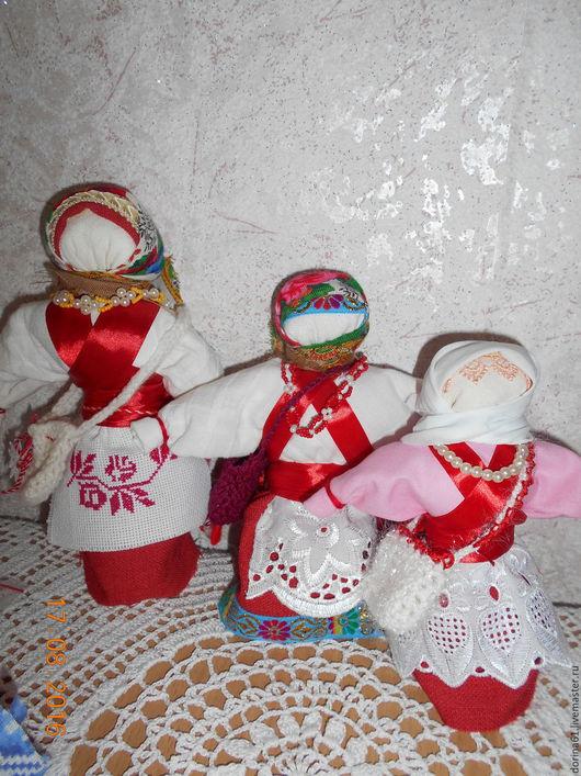 Народные куклы ручной работы. Ярмарка Мастеров - ручная работа. Купить Кукла-оберег Успешница. Handmade. Бордовый, кукла