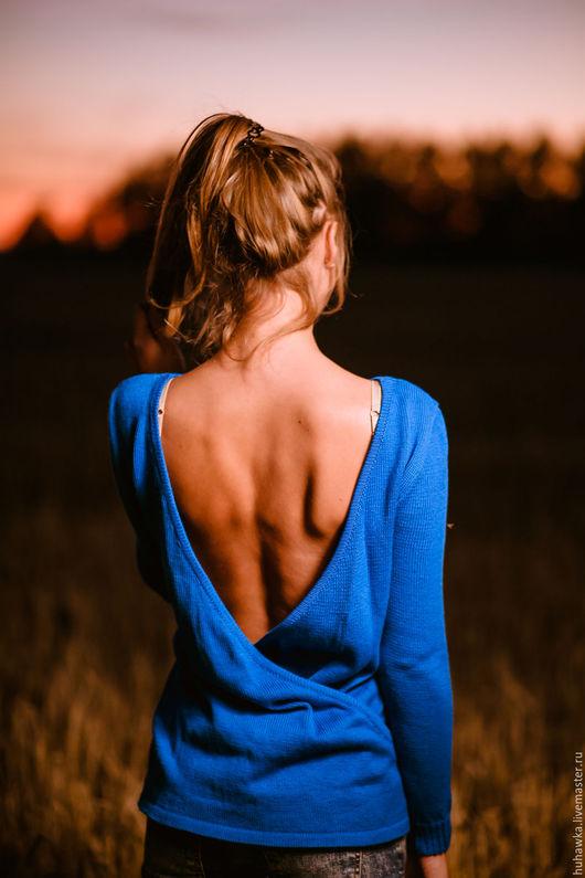 """Кофты и свитера ручной работы. Ярмарка Мастеров - ручная работа. Купить Кофта вязаная женская с открытой спиной """". Handmade."""