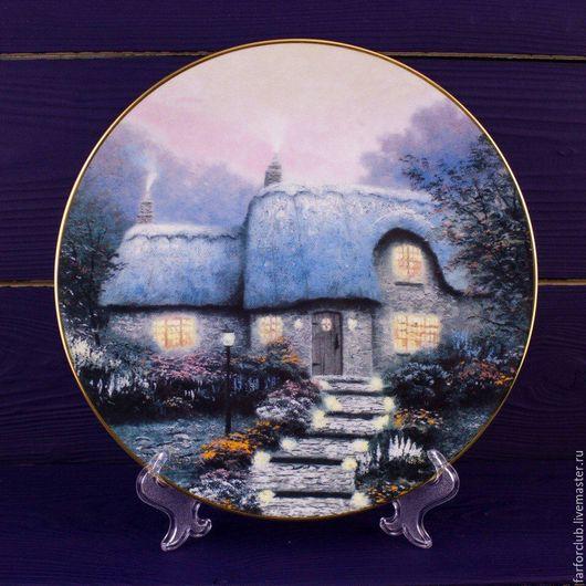 Декоративная посуда ручной работы. Ярмарка Мастеров - ручная работа. Купить Тарелка KNOWLES, Edvin M.. Handmade. Комбинированный, фарфор
