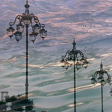 Картины и панно ручной работы. Ярмарка Мастеров - ручная работа Городское освещение. Handmade.