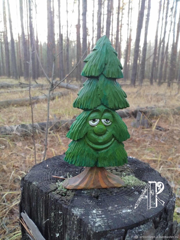 Christmas tree toy carved ' Merry Christmas tree', Christmas decorations, Ryazan,  Фото №1