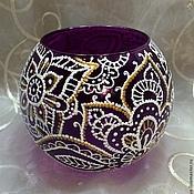 Для дома и интерьера ручной работы. Ярмарка Мастеров - ручная работа Подсвечник Фиолетовый. Handmade.