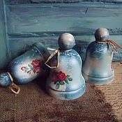 """Для дома и интерьера ручной работы. Ярмарка Мастеров - ручная работа Колокольчик """"Голубой винтаж"""". Handmade."""