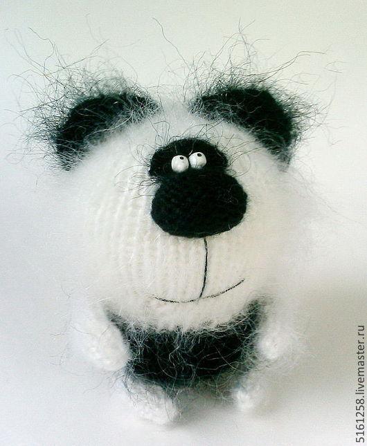 """Миниатюра ручной работы. Ярмарка Мастеров - ручная работа. Купить Вязаный мишка """"Панда"""". ( Игрушки медведи вязаные амигуруми ). Handmade."""