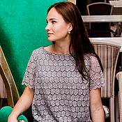 """Одежда ручной работы. Ярмарка Мастеров - ручная работа """"Облачно"""". Платье прямого силуэта.. Handmade."""