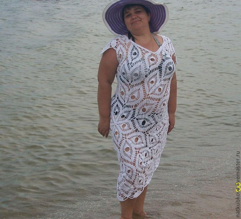 Платье вязаное Белая лилия, Платья, Николаев,  Фото №1