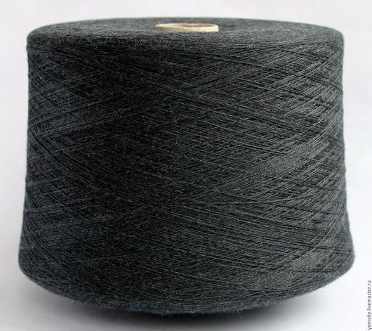 Вязание ручной работы. Ярмарка Мастеров - ручная работа. Купить 100% Меринос экстрафайн. Handmade. Темно-серый, пряжа