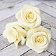 Заколки ручной работы. Шпильки с розами (средние) - Айвори кремовый. Tanya Flower. Интернет-магазин Ярмарка Мастеров. Украшение для невесты