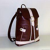 Сумки и аксессуары handmade. Livemaster - original item Backpack leather 210. Handmade.