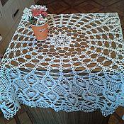 Tablecloths handmade. Livemaster - original item Openwork white tablecloth. Handmade.