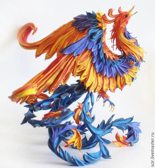 """Игрушки животные, ручной работы. Ярмарка Мастеров - ручная работа. Купить фигурка """"Жарптица огонь и вода"""" (статуэтка жарптица, птица феникс). Handmade."""