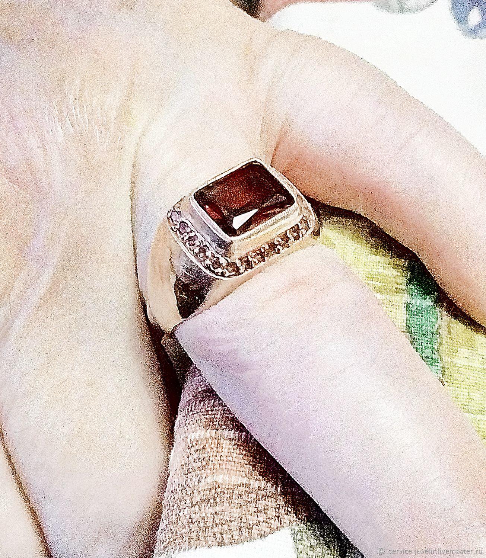 Перстень БРИГЕТ с Гранатом, Аметистом, Перстень, Пенза,  Фото №1
