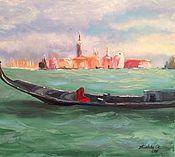 """Картины и панно ручной работы. Ярмарка Мастеров - ручная работа Картина """"Венеция, вид на о. Джудекка"""". Handmade."""