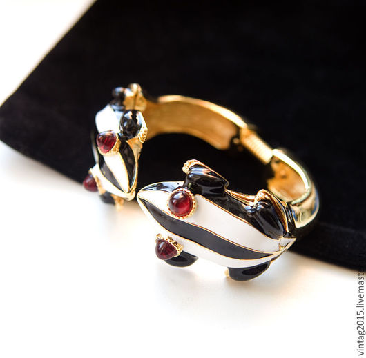 """Винтажные украшения. Ярмарка Мастеров - ручная работа. Купить """"Поющие в ручьях""""- великолепный стильный браслет от KJL.. Handmade. Комбинированный, для женщины"""