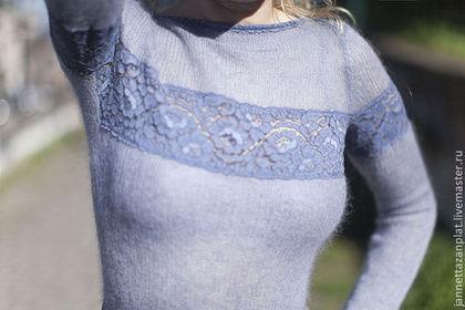 """Платья ручной работы. Заказать платье """"Сиреневый туман"""". Jannetta knits  Luxury handmade. Ярмарка Мастеров. Авторская ручная работа"""