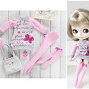 Куклы и игрушки handmade. Livemaster - original item Set for Blythe. Sweatshirt, socks, tights, underpants, bag. Handmade.