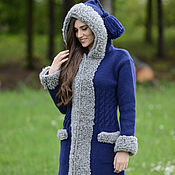 Одежда ручной работы. Ярмарка Мастеров - ручная работа Пальто вязаное 16wj03. Handmade.