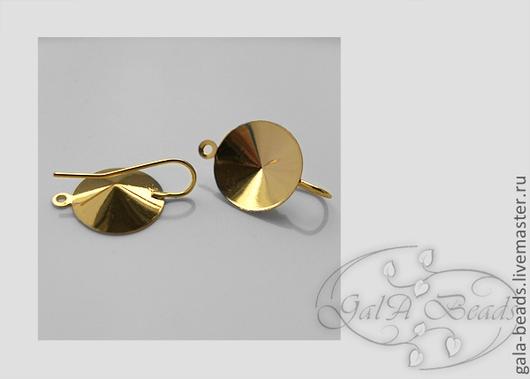 Для украшений ручной работы. Ярмарка Мастеров - ручная работа. Купить Швензы для риволи 16 мм,18 мм золото серебро. Handmade.