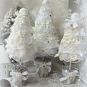 Подарки к праздникам ручной работы. Ярмарка Мастеров - ручная работа Рождественские ели... Shabby. Handmade.