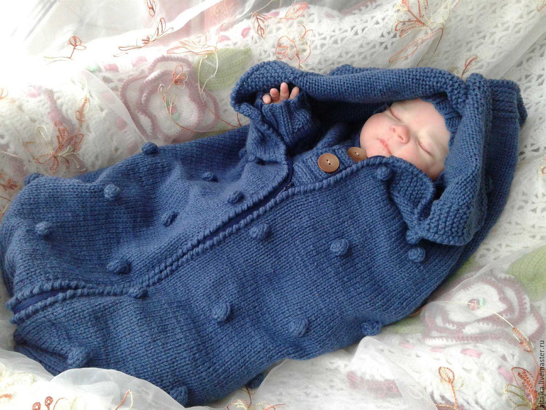 Вязание кокон для новорожденного 99