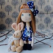 """Куклы и игрушки ручной работы. Ярмарка Мастеров - ручная работа Авторская кукла """"Малышка-зайка"""". Handmade."""