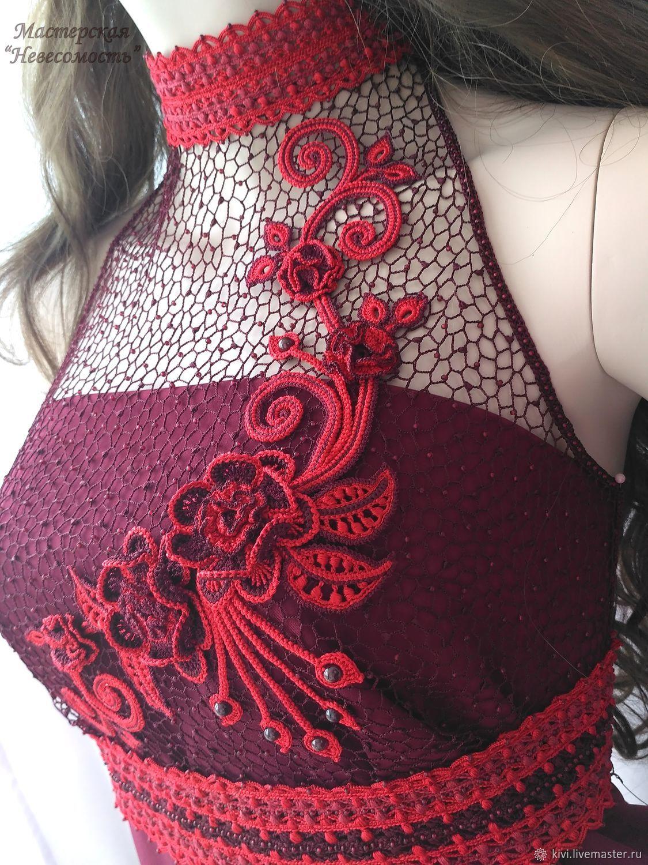 Dress with knitted yoke, Dresses, Ekaterinburg,  Фото №1