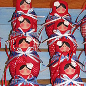 Куклы и игрушки ручной работы. Ярмарка Мастеров - ручная работа Ёлочные матрешки. Handmade.