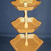 Посуда ручной работы. Ярмарка Мастеров - ручная работа Этажерка-конфетница из бересты Красавица. Handmade.