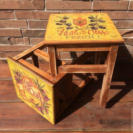 """Мебель ручной работы. Ярмарка Мастеров - ручная работа. Купить Табуретка """"Тоскана"""". Handmade. Табурет, прованс стиль, табурет деревянный"""