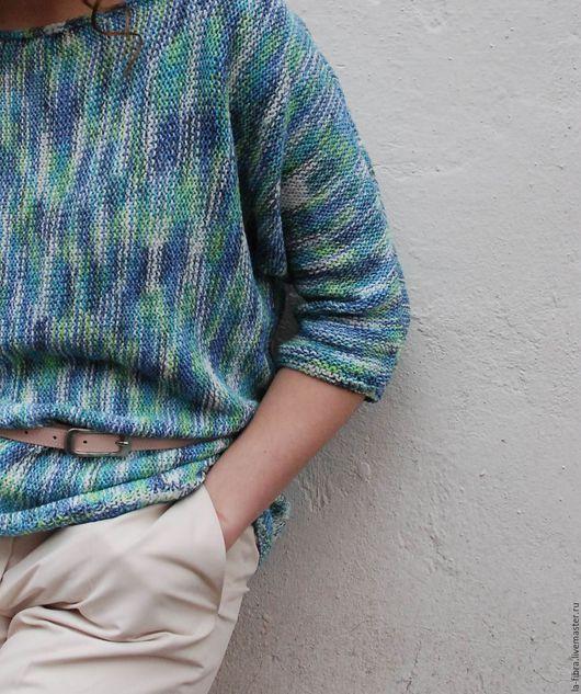 Кофты и свитера ручной работы. Ярмарка Мастеров - ручная работа. Купить Джемпер Летняя акварель. Handmade. Комбинированный, пастельный