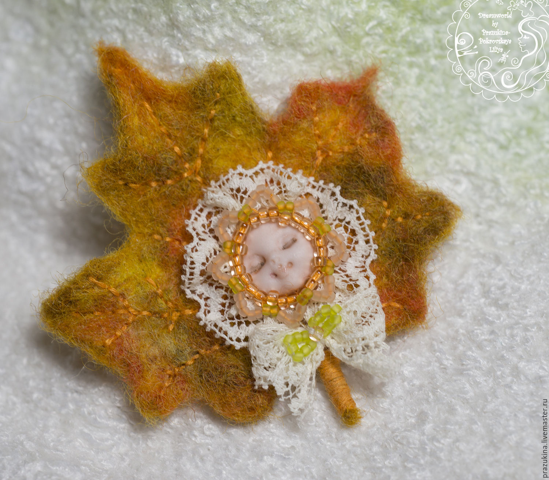 Felted brooch 'Autumn dreams', Brooches, Sevastopol,  Фото №1