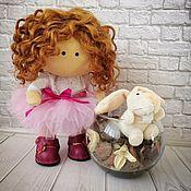 Куклы и пупсы ручной работы. Ярмарка Мастеров - ручная работа Кукла интерьерная текстильная. Кукла для игры Кукла в подарок. Handmade.