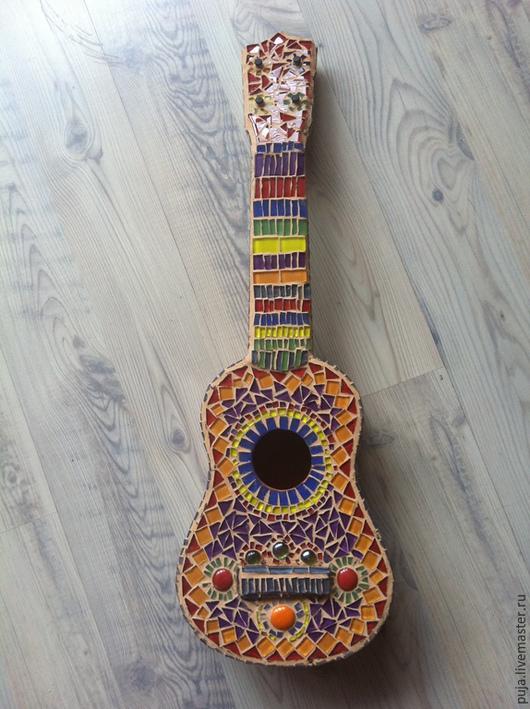 Элементы интерьера ручной работы. Ярмарка Мастеров - ручная работа. Купить Гитара. Handmade. Разноцветный, подарок, гитара